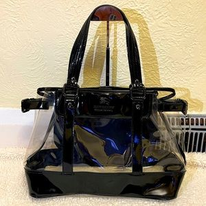 ❌ FIRM ❌ BURBERRY PVC clear black tote